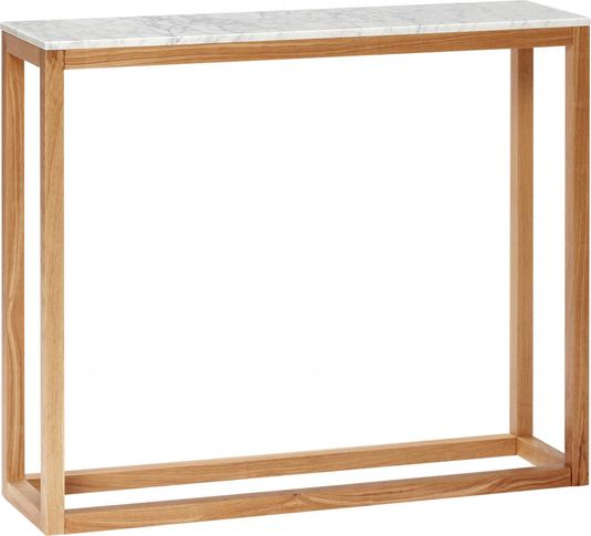Sidetable Wit Hout.Sidetable Wit Marmer Hout Hubsch Lil Nl